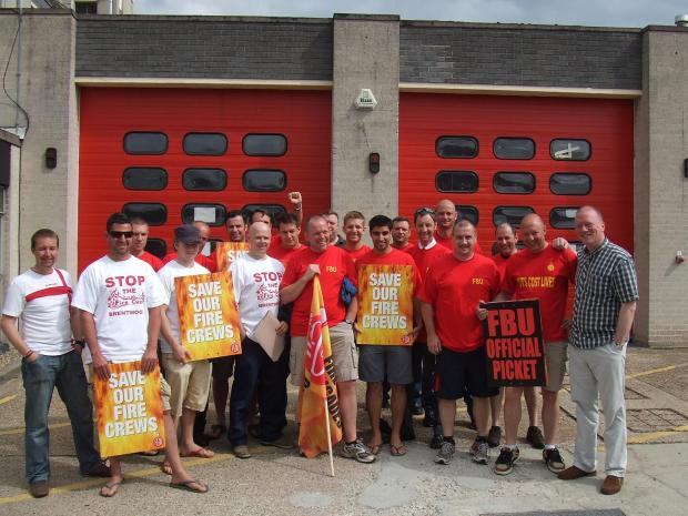Walkout: Staff at Brentwood fire station are unhappy about planned changes to crews