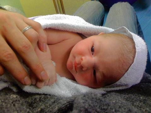 Pride and joy - baby Henry Dylan Giles