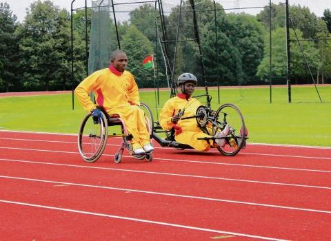 Paralympic athletes Nikiema Kadidia and Gasbeogo Lassane, from Burkina Faso, have trained at Brentwood School