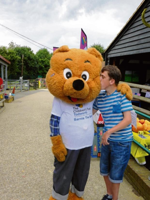 Alby Dobinson with Barnie the Bear