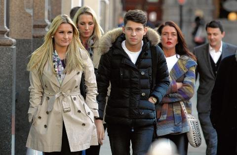 Sam Faiers arrives at court with boyfriend and TOWIE co-star Joey Essex