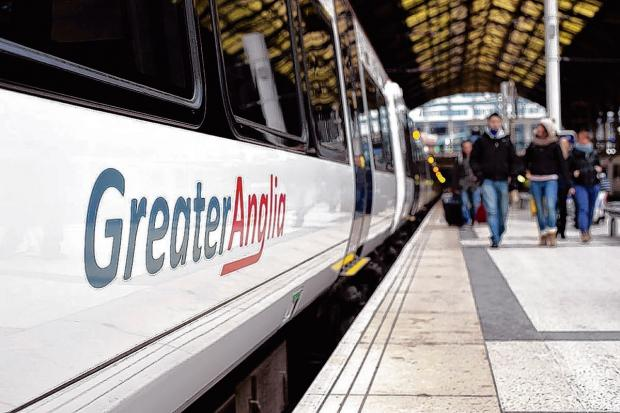 The incident took place on a Greater Anglia service