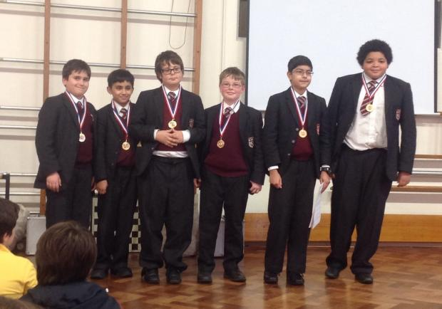 The winning team from Brentwood Preparatory School