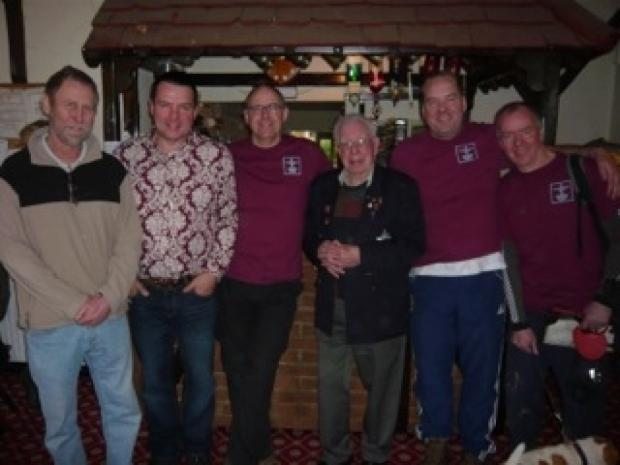Brentwood Weekly News: David Whiteman with the team doing the Operation Market Garden march