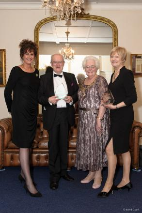 L-R: Brentwood Council's managing director Alison Crowe, Neville Brown, Mayor of Brentwood Madeline Henwood and Maggie Kiel