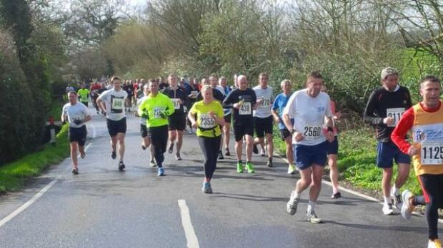 Runners during the Brentwood Half Marathon. Picture tweeted by Brownes Bootcamp