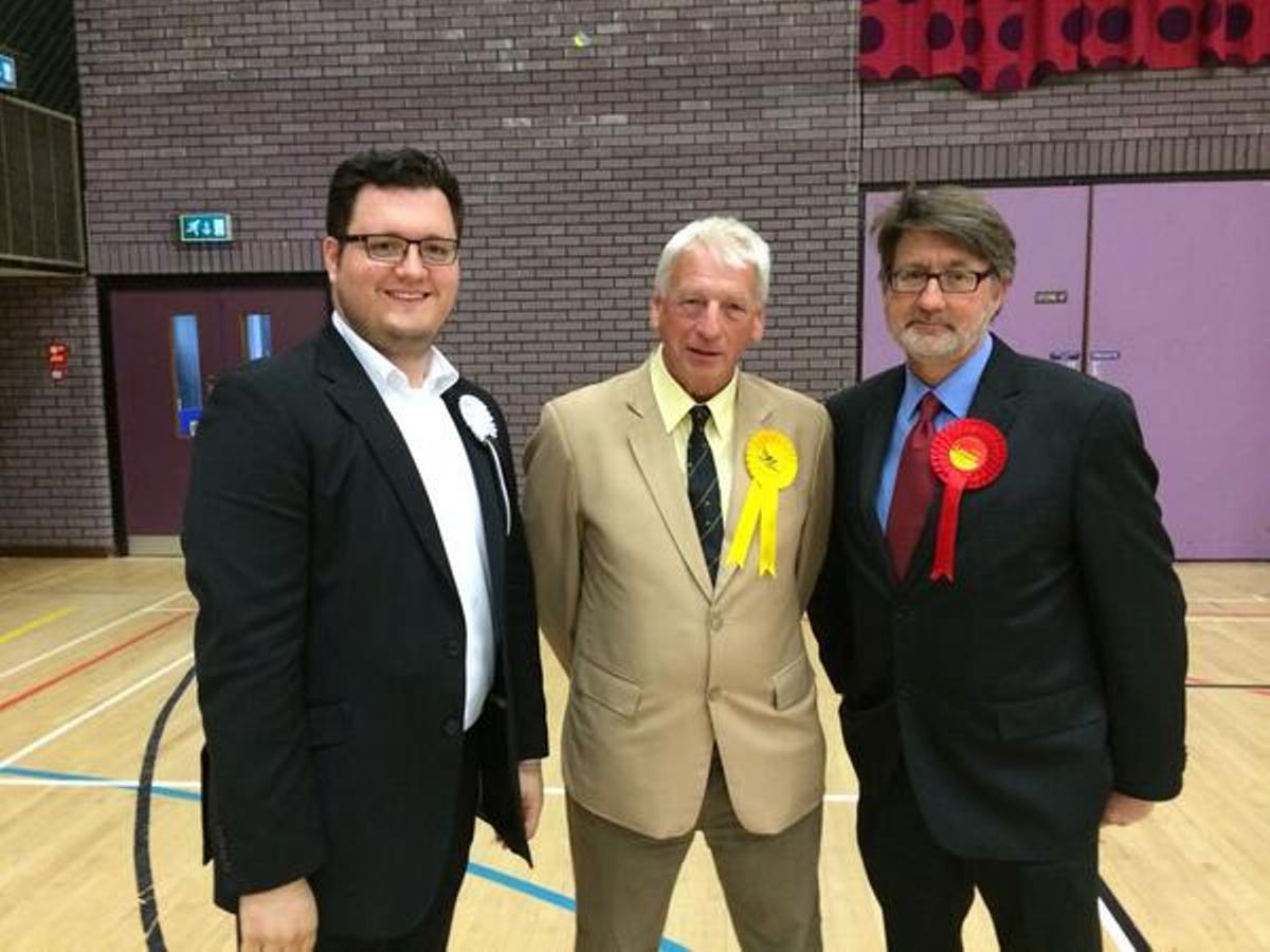 Leaders: William Lloyd of Brentwood First, Barry Aspinall of the Lib Dems and Mike Le Surf of Labour