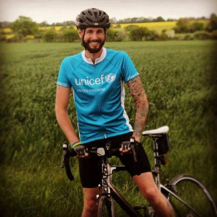 Former soldier and Afghanistan vet Gareth Sell, 31, will cycle th