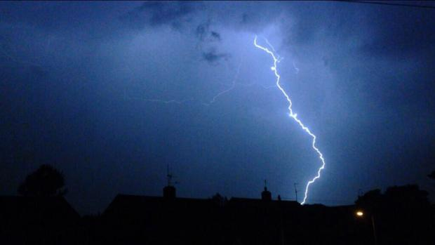 The Met Office has warned of possible thunderstorms, torrential downpours and gusty winds over the weekend, especially in the west of the county.