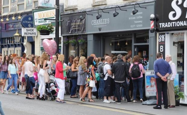 Queues outside the deli on Saturday (Pic: Twitter, @charlies_deli)