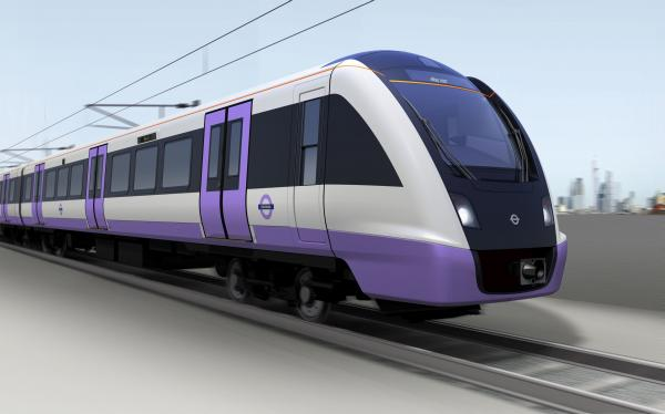 Artist impression of the Crossrail train