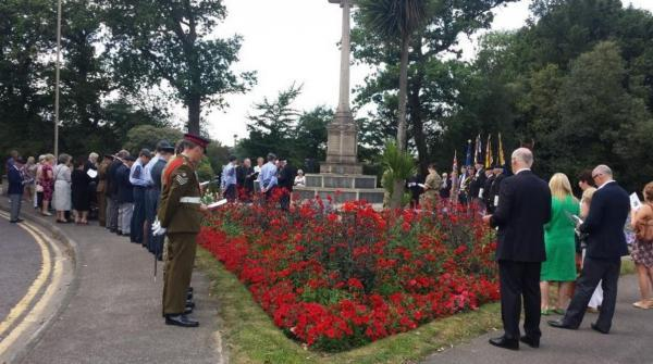 Dignitaries including the Mayor of Brentwood attended the war memorial on Shenfield Road