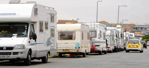 Council criticised over its role in moving on travellers
