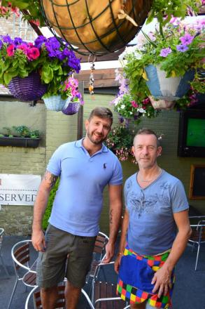 Winners: Ben Easen and Mike Shewbrook of The Essex Arms, Warley Hill