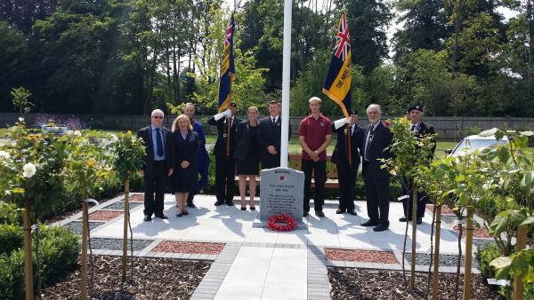 The day also included the dedication of a new Armed Services Memorial Garden, complete with the flagpole and headstone
