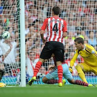 Morgan Schneiderlin scores his second goal of the afternoo