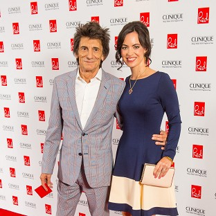 Ronnie Wood pictured with his wife Sally